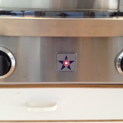 Stove light with any burner lit